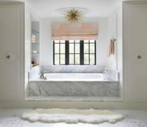 Luxurious Feminine Bathroom Perfect for Santa Barbara Home